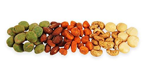 Pikante Nussmischung | Macadamia | Rauchmandeln | Wasabi | Erdnüsse | Cashewkerne | Giant Corn |...