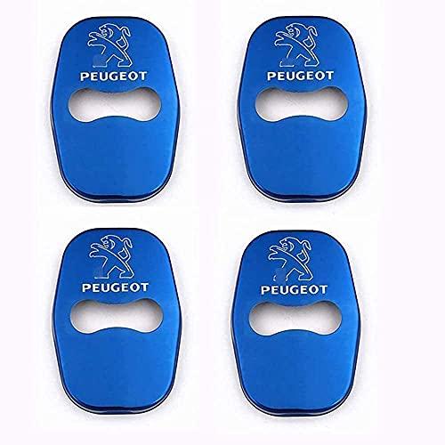 4 Uds Cubierta Cerradura Puerta Coche, para Peugeot 301 308 408 508, Cubierta de Cerradura de Puerta Anticorrosión Protección Interior Accesorios
