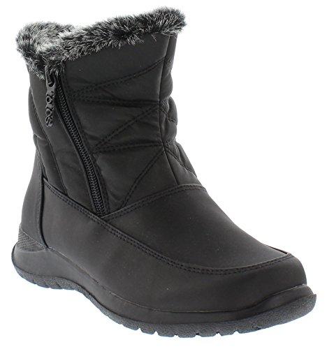 totes Women's Bootie Zip Snow Boot, Black, 9