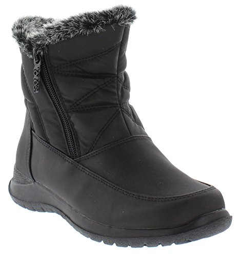 small Women's booties snow boots, black, 8.5