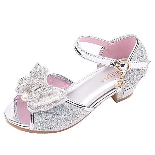 Zylione 721-5 Kinder MäDchen Bogen Perle Strass Tanzschuhe Prinzessin Einzelne Coole Schuhe