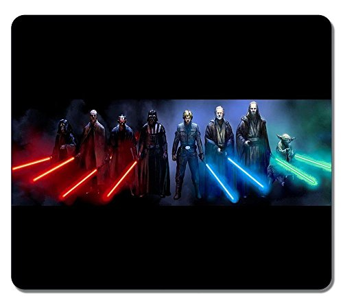 Rectangle MousEPAd Customized Nonslip Rubber Star Wars Sith and Jedi Water Resistent Gaming Mouse Pads, Large