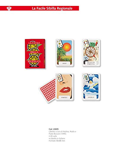 Dal Negro 043005 Carte da Gioco Facile Sibilla Regionale, Multicolore