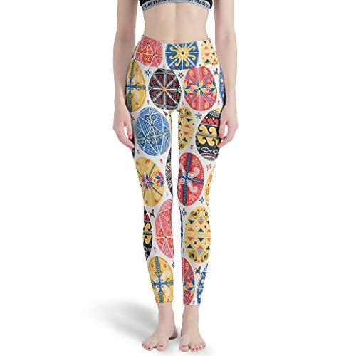 Harberry Leggings delgados para mujer, leggings digitales de Pascua - Leggings suaves para mujer blanco m