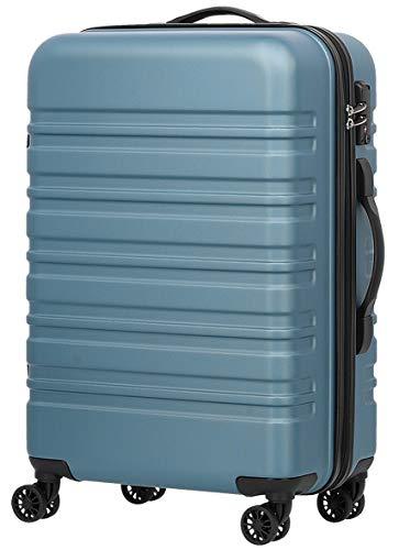 [luckypanda(ラッキーパンダ)] TY8098 スーツケース キャリーケース キャリーバッグ 機内持ち込み 軽量 小型 1年修理保証 ファスナー 傷が目立ちにくい TSAロック ダブルキャスター 8輪 Sサイズ シャークブルー 青