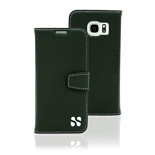 SafeSleeve GS7edge Wallet Case, Galaxy S7 Edge Cell Phone Radiation Blocker and RFID, Black