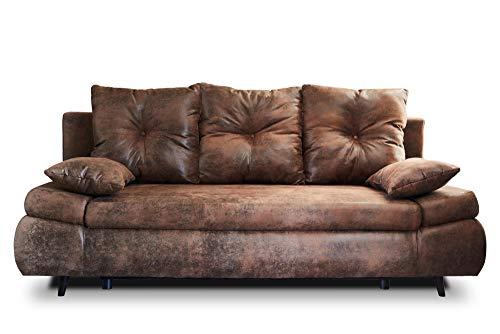 Canapé droit 3 places Pas cher Contemporain Panoramique