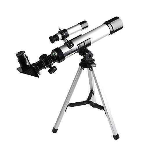 Telescope for Kids Focal Length 400mm Aperture 40mm(400x40mm) with Compass &Tripod& Finder Scope, Refractor Portable Kids' Telescope and Beginners' Telescope for Exploring The Moon and Its Craters