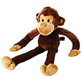 MULTIPET Swingin Safari Monkey 22-Inch Large Plush Dog Toy with Extra Long Arms and Legs...