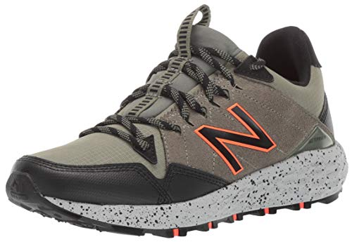 New Balance Men's Fresh Foam Crag Trail V1 Running Shoe, Faded Rosin/Mineral Green/Black, 12 D US