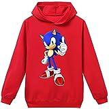Silver Basic Tamao Unisex para Nios Sonic The Hedgehog Sudadera con Capucha Sudadera Sonic Adventure Cosplay Sonic Ropa para Nios y Nias Adolescentes 170,Rojo Traje de Sonic-4