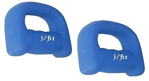 J Fit Neoprene Grip Dumbbell Weight, 2-Pound 1 lb./Qty 2