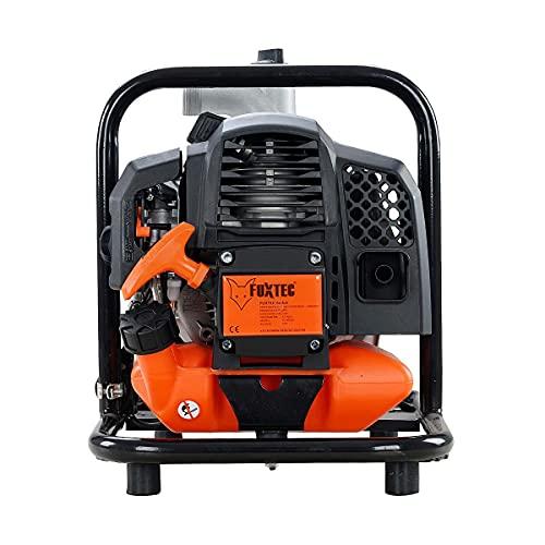 Pompe à eau thermique 2 temps 42 cm3 FUXTEC FX-WP143 - volume aspiration 8.000 l/h, hauteur de refoulement 30 m, hauteur d'aspiration max. 8m - Pompe de jardin ou de bassin à essence