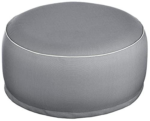 Brandsseller Outdoor Pouf Sitzhocker Sitzsack für drinnen und draußen aufblasbar - 55 x 25 cm (Dunkelgrau)