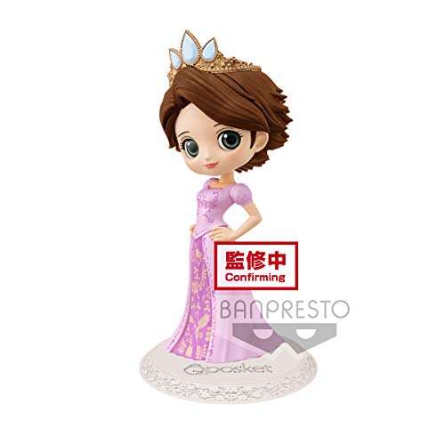 Banpresto - Figuras Disney – Dreamy Style Raiponce Ver B Q Posket 14 cm, Multicolor, 4983164164152