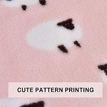 Vejaoo Flanelle Douce et Chaude Couverture Chaude, épaisse Couverture de Chien Tapis de Chat XZ006 (89 * 68 CM, Pink)