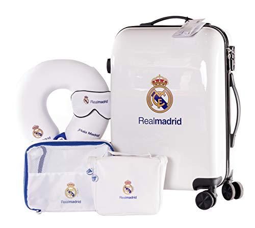 Real Madrid - Pack de Viaje Maleta y Accesorios - Producto Oficial...