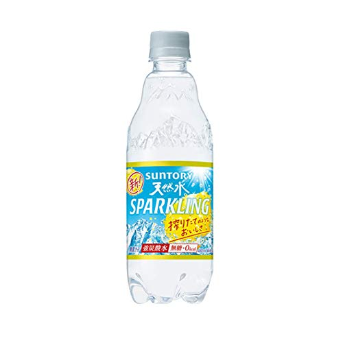 サントリー 天然水 スパークリングレモン 480ml×24本 PET