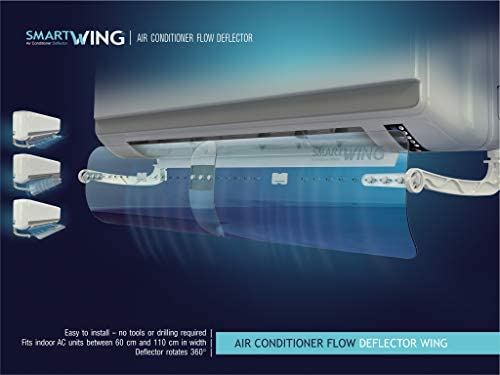 Air conditioner deflector for window units _image2