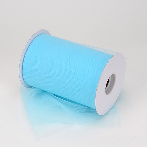 BBCrafts Light Blue Polyester Tulle Roll 6 inch 100 Yards