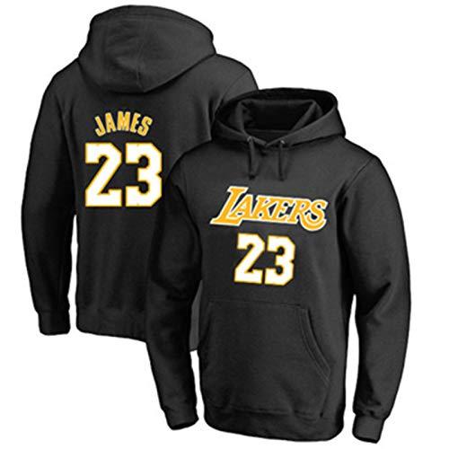 MZAW Los Angeles Sudadera Lakers #23 Jersey de baloncesto James Casual con capucha LeBron Sudadera de manga larga con bolsillos - Negro