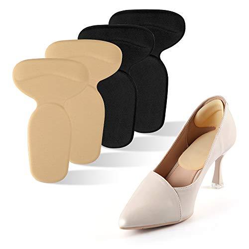 moinkerin 2 Paar Fersenschutz Schuhe Fersenpolster Fersenhalter Fersenkissen Fußballen für zu große Schuhe, Anti Slip Fersen Polster für Besseren Schuh Passend HighHeels Pads Komfort