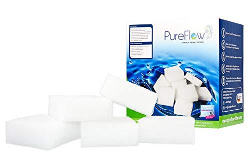 PureFlow 3D Filtercubes - 500g hochwirksamer Poolfilter, Filtermaterial - Ersatz für 40kg Filtersand - für Pool, Whirpool - Ersatz für Sandfilter und Glasfilter, High-Tech Poolfilter Made in Germany