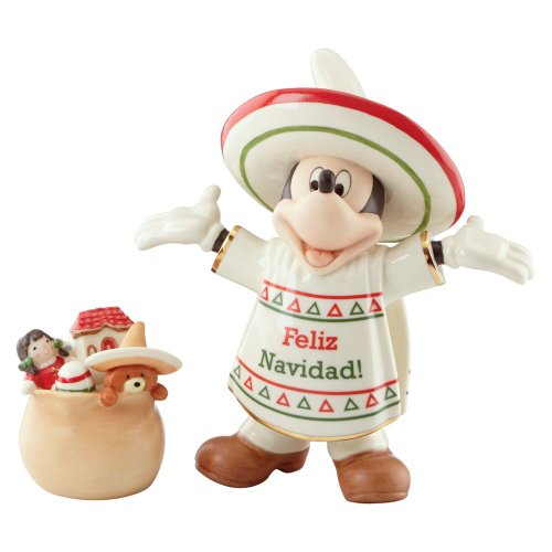 Disney Lenox Feliz Navidad Mickey Mouse Figurine #839656