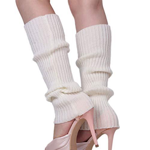 Dorical Unisex Kuschelige Beinwärmer, Stulpen, Legwarmers mit zusätzlicher Garantie,Winter Kurze Stricken Gestrickte Legwarmer Boot Abdeckung Socken