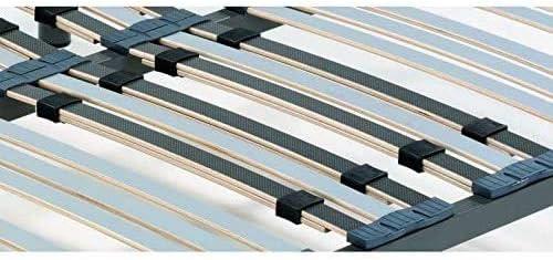 Todocama - Somier multiláminas con reguladores lumbares - Patas de Acero Incluidas - Láminas de Haya 100% de 33 mm con Acabado Antihumedad y ...