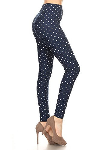 R987-OS Retro Polka Dots Print Fashion Leggings