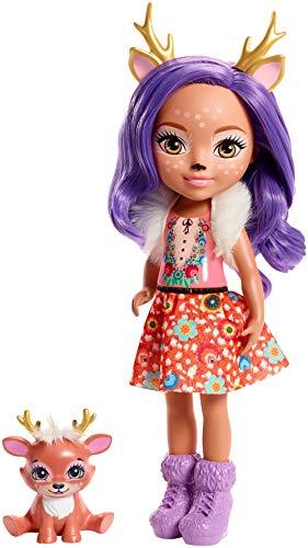 Enchantimals Huggable Cutie Danessa Deer Muñeca Grande con Accesorios (Mattel FRH54)
