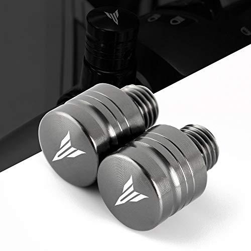 Par M10 X 1.25 CNC Aluminio Roscado Moto Espejo de la motoci