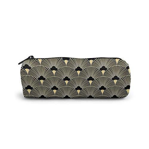 Art Deco, diseño de abanico, vintage, época, dorado, negro, elegante, chic, The...