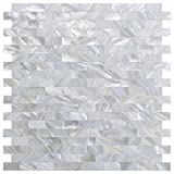 LONGKING Mother of Pearl Tiles, Decorative Tiles (A-03, 10 Tiles)