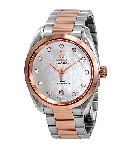 Omega Seamaster Aqua Terra Madre Perla Diamante Dial 38 mm Reloj 220.20.38.20.55.001