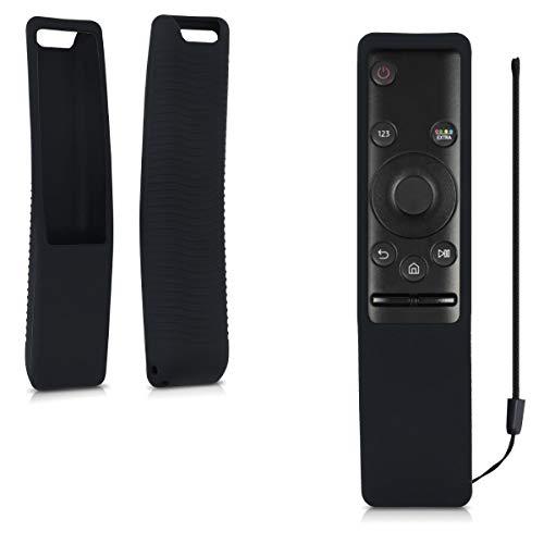 kwmobile Cover protettiva compatibile con Samsung BN59-01241A BN59-01242A/01266A - Custodia in silicone per telecomando TV - Guscio salva telecomando antiurto - nero