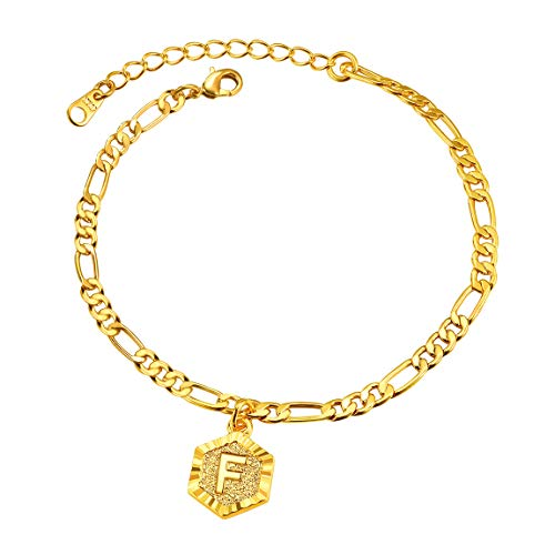 ChainsPro Women Ankle Bracelet 10 inch Chic Gold Inital Anklet