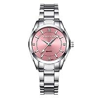 ZHANGZZ 美しい時計 ウィメンズウォッチファッションウォッチレディースウォッチクォーツウォッチウォッチ021B (Color : 1)