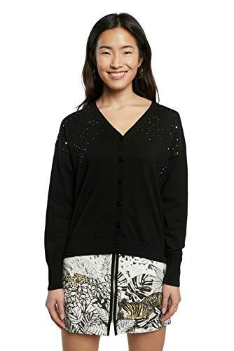 Desigual JERS_Columbia Cardigan Jersey, Negro, XL para Mujer