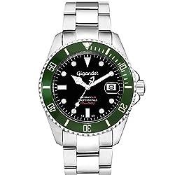 Gigandet SEA GROUND Automatik Herren Armbanduhr'G2' Taucheruhr mit Edelstahlarmband - G.