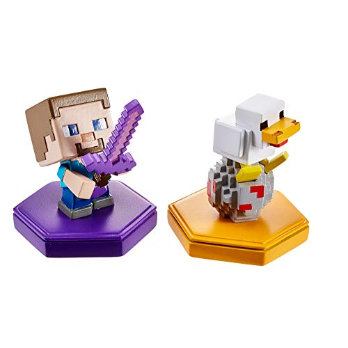 Minecraft Boost Pack de 2 Minifiguras Steve y Chicken (Mattel GKT42)