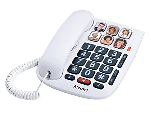 Alcatel T MAX 10, Teléfono Teclas Grandes con 6 Memorias Directas, Blanco