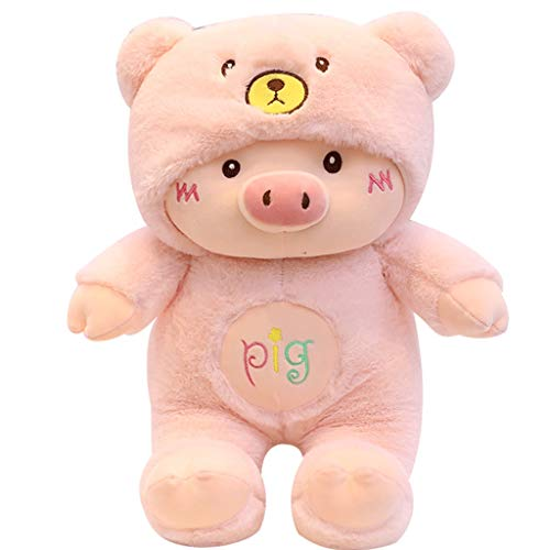 HUOQILIN Simulation Plush Toys McDull Pig Pig Pig Blessing Cushion Cute Pillow Creative Gift (Color : Pink, Size : 70cm)