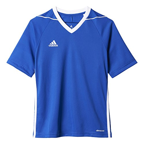 adidas Youth Tiro 17 Soccer Jersey S Bold Blue-White (Small)