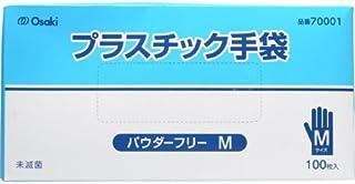 オオサキメディカル プラスチック手袋 PF Mサイズ 100枚入