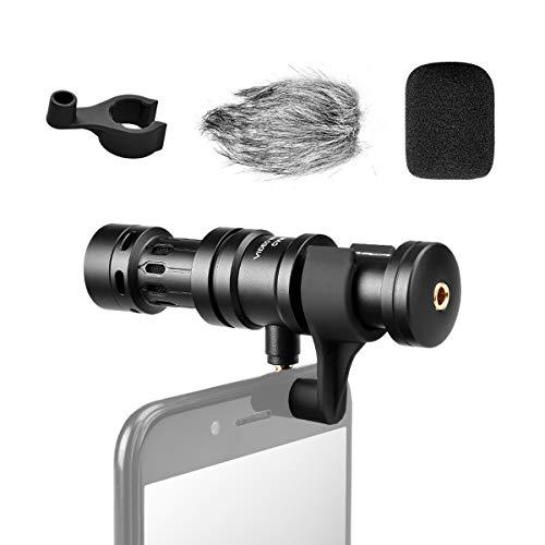 COMICA CVM-VS08 Microfono Smartphone Direccional, Microfono Condensatore Smartphone