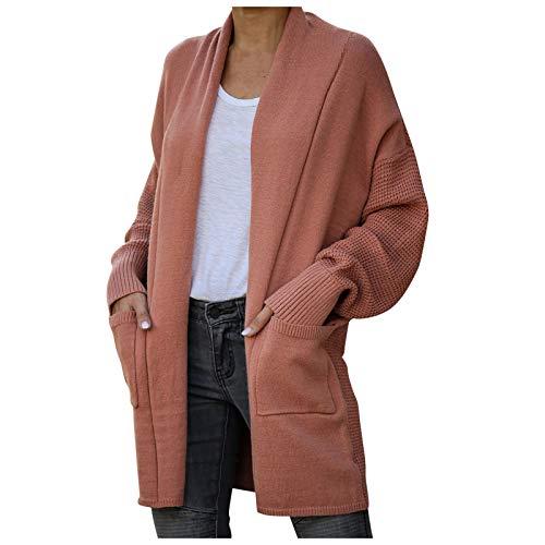 JXQ-N Haut à Manches Longues pour Femmes à Manches Longues et Pull à tricoter Avec poches