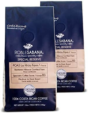 Costa Rican Coffee ROBLESABANA Poas SCA Specialty Grade SPECIAL RESERVE Direct Trade Rainforest product image