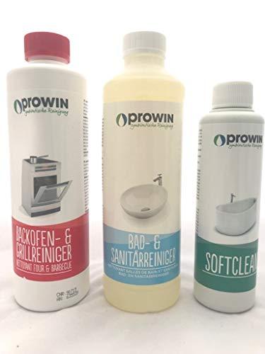 Prowin Backofenreiniger, Bad und Sanitär Reiniger und Softclean im Set